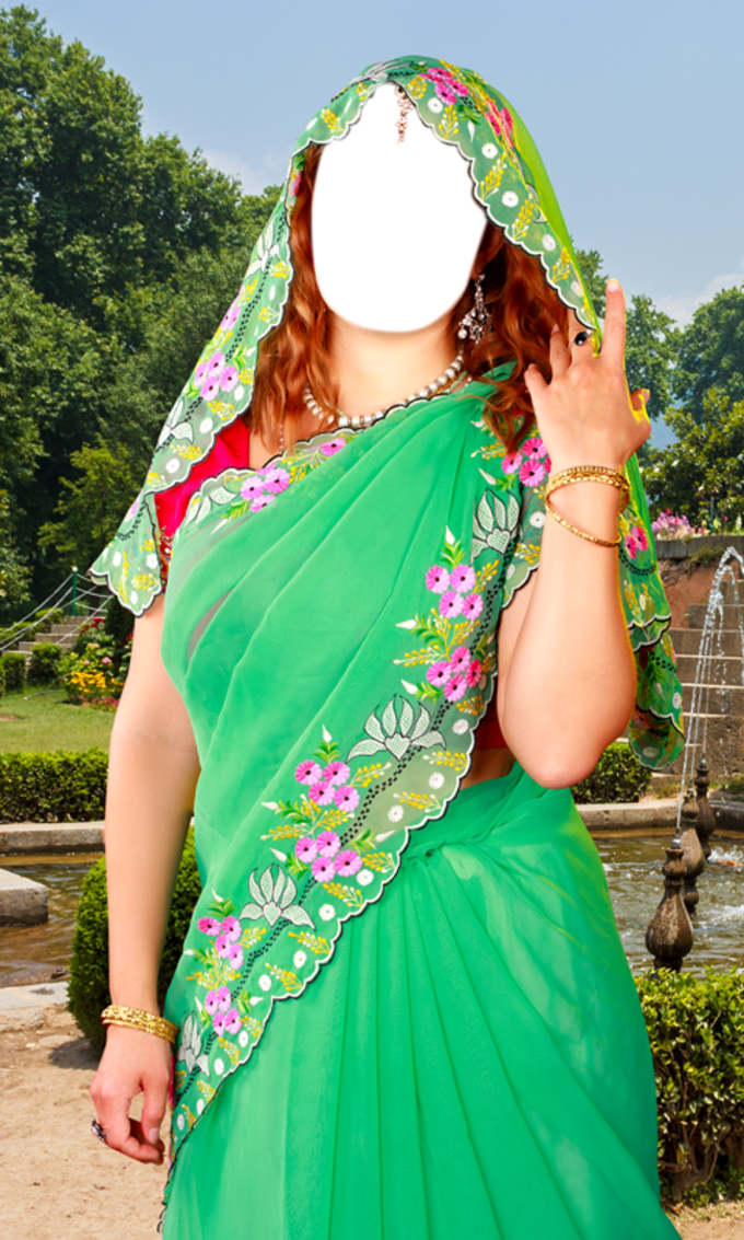 Women Saree Photo Montage