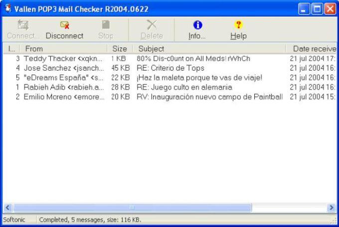 Vallen POP3 Mail Checker