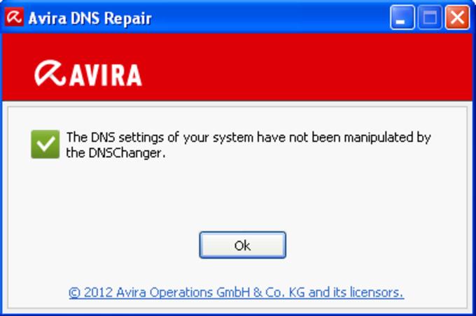 Avira DNS-Repair-Tool