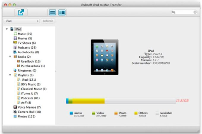 iPubsoft iPad to Mac Transfer