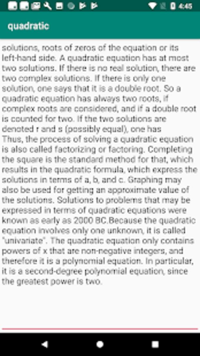 Quadratic function