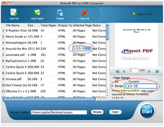 iPubsoft PDF to HTML Converter for Mac