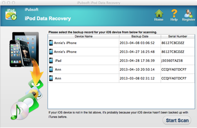 iPubsoft iPod Data Recovery for Mac