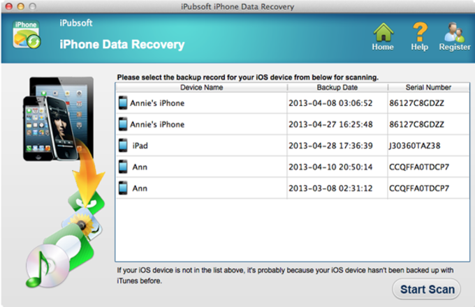 iPubsoft iPhone Data Recovery for Mac