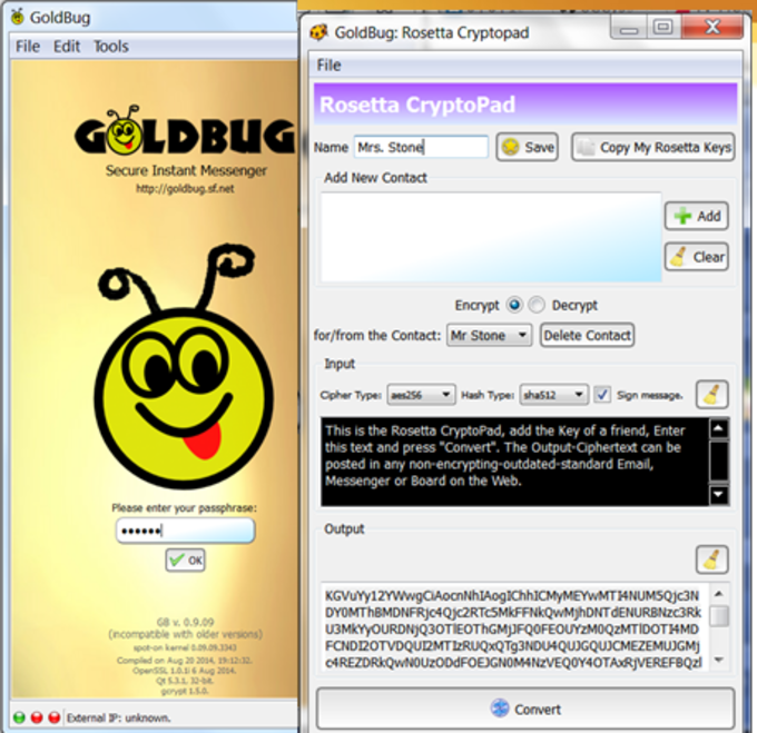 GoldBug Secure Instant Messenger & E-Mail Client