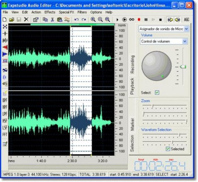 Expstudio Audio Editor