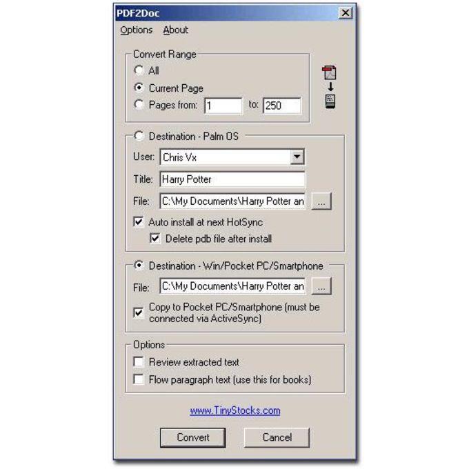 PDF2Doc PDA