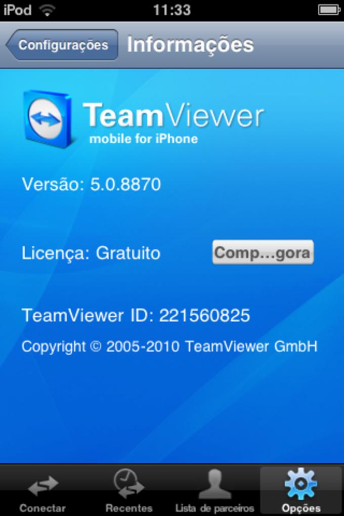 Teamviewer para iphone 4 gratis