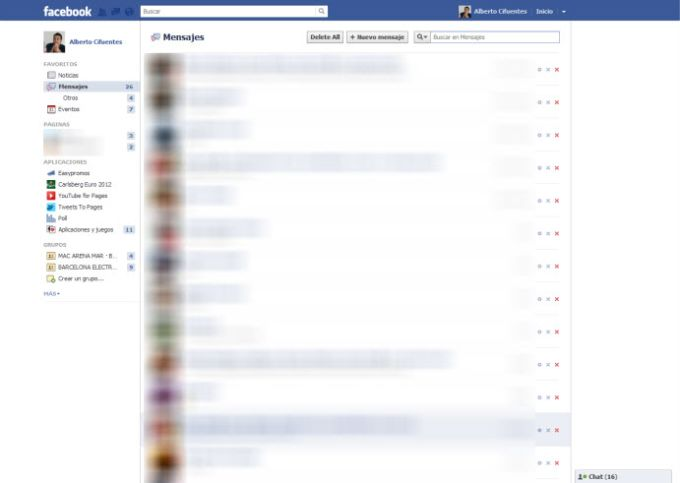 Facebook Fast Delete Messages