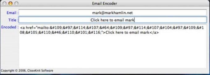 Email Encoder