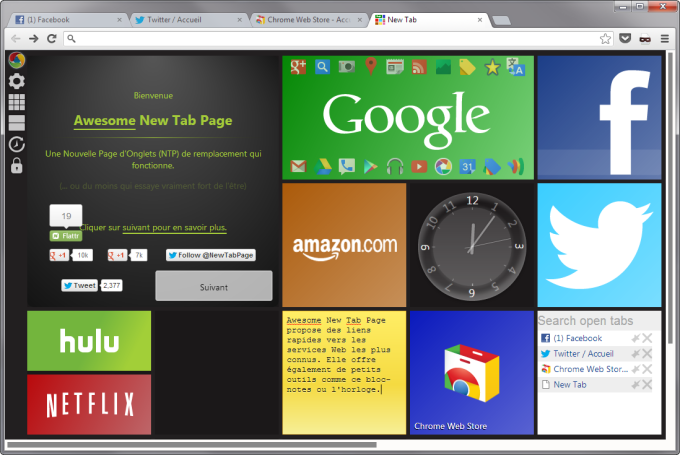 Awesome New Tab Page