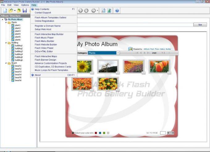 A4Desk Flash Photo Gallery Builder