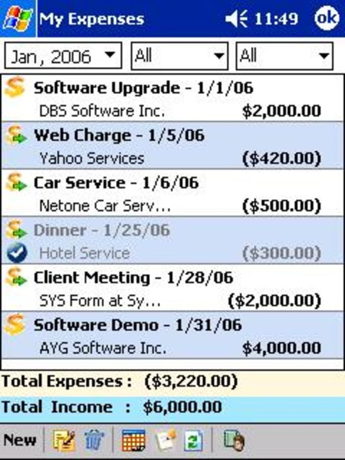 My Expenses + Desktop Edition