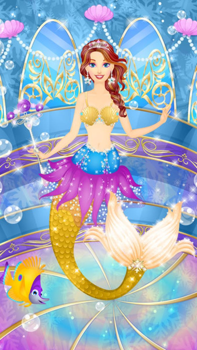 Ice Princess Mermaid Salon: Girls Makeover Games