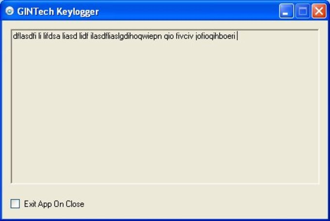 GINTech Keylogger