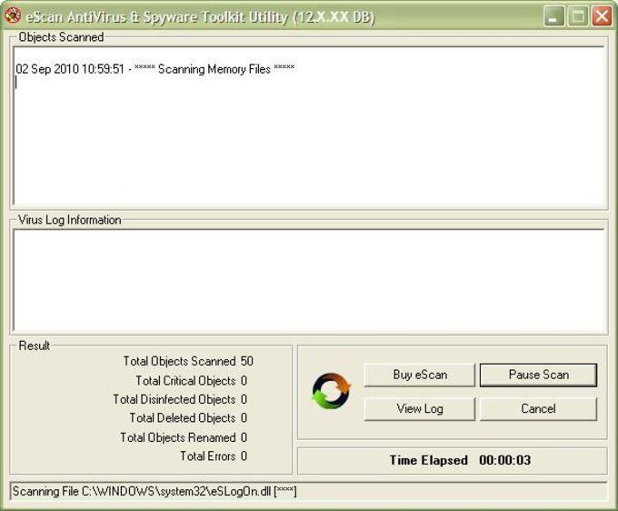 eScan Anti Virus and AntiSpyware Toolkit
