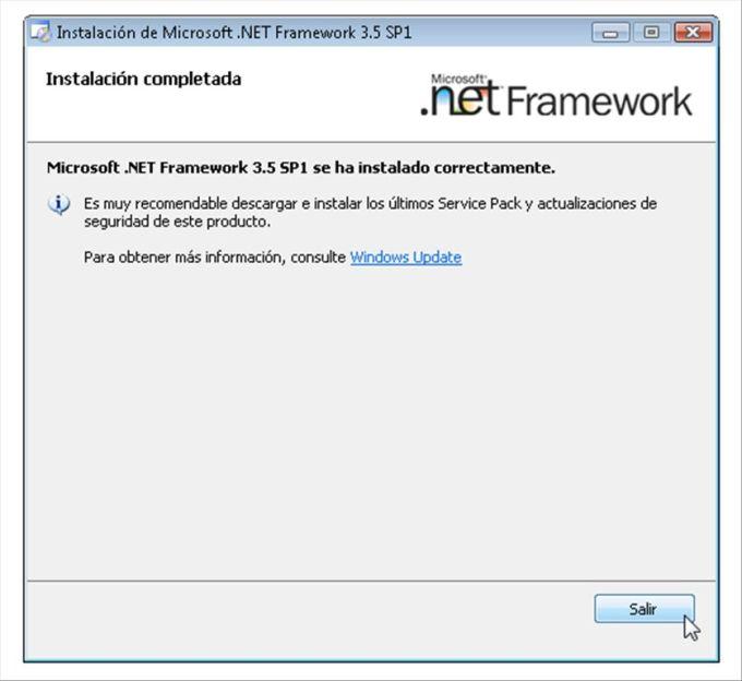 microsoft net framework sp1 windows 7