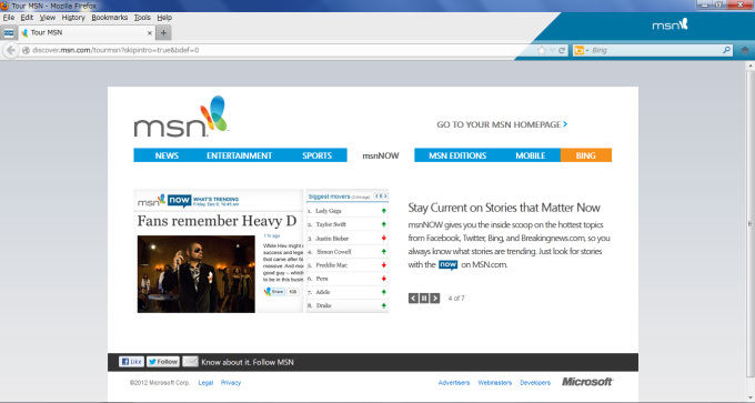 Mozilla Firefox with MSN