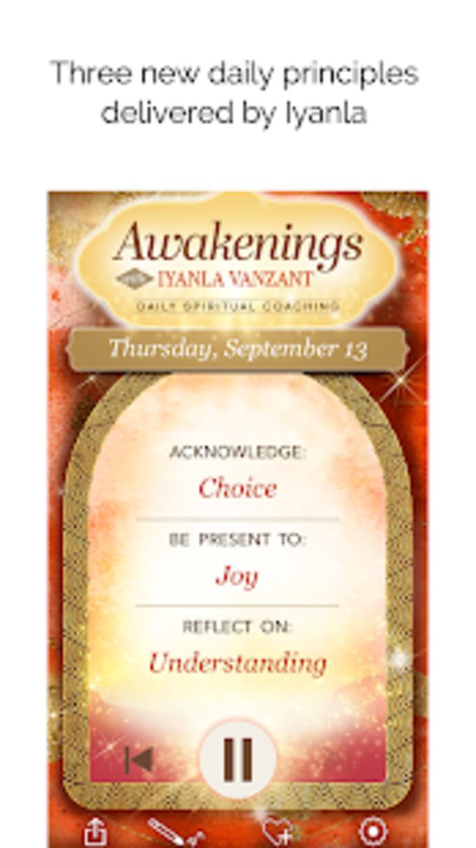 Awakenings with Iyanla Vanzant  Daily Coaching