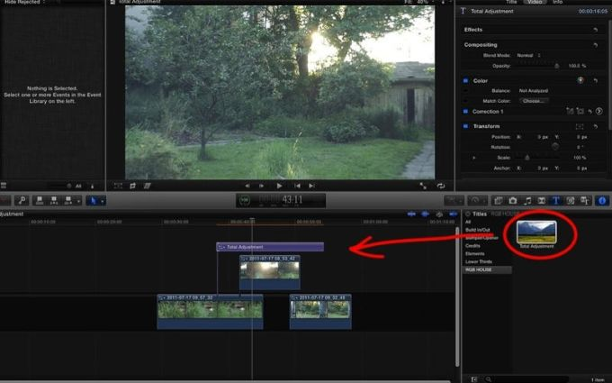 Total Adjustment for Final Cut Pro