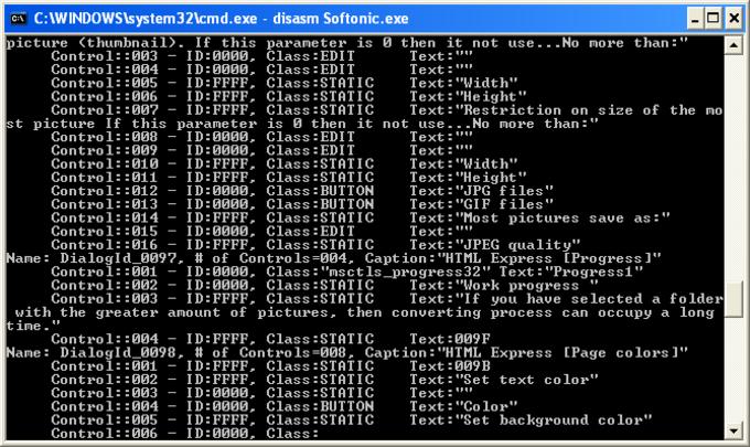 Win32Program Disassembler