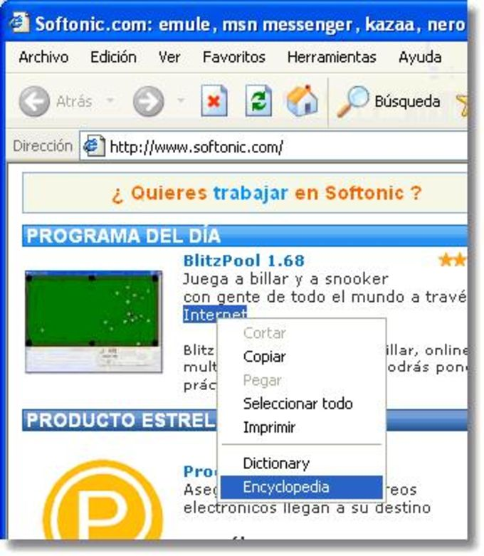 Dictionary Add-on for Internet Explorer