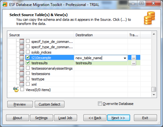 ESF Database Convert