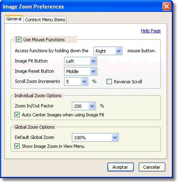 Image Zoom Extension