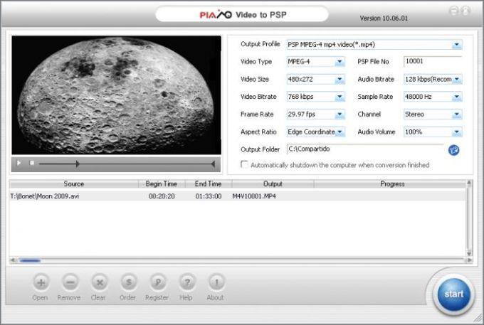 Plato Video to PSP Converter