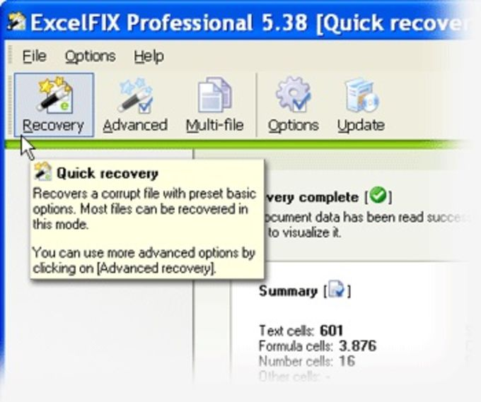 ExcelFIX Excel File Recovery