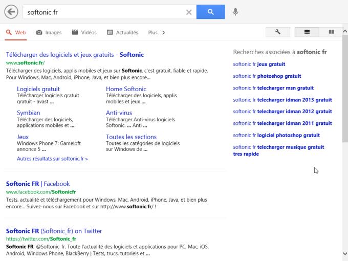 Google Search pour Windows 10