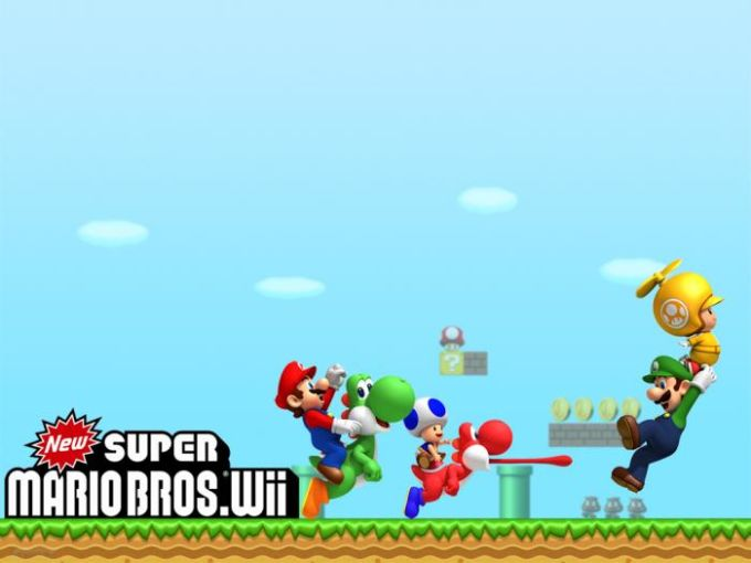 New Super Mario Bros. Wii Papel de parede