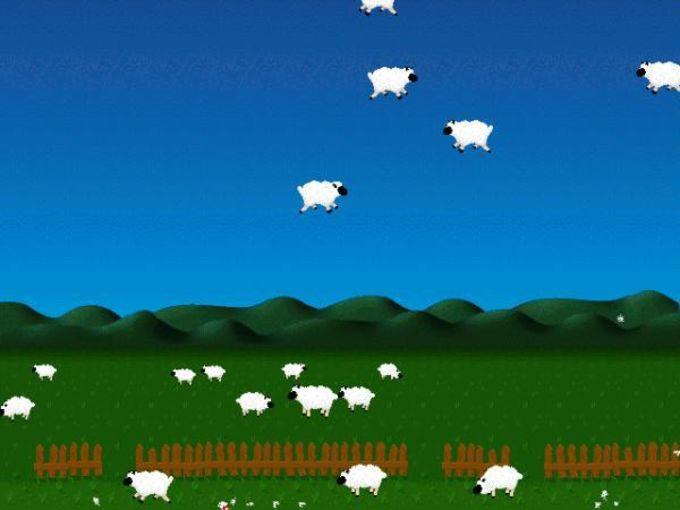 Sheep vs. Gravity Screensaver