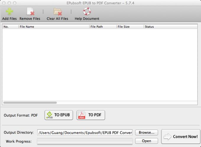 EPubsoft EPUB to PDF Converter Mac