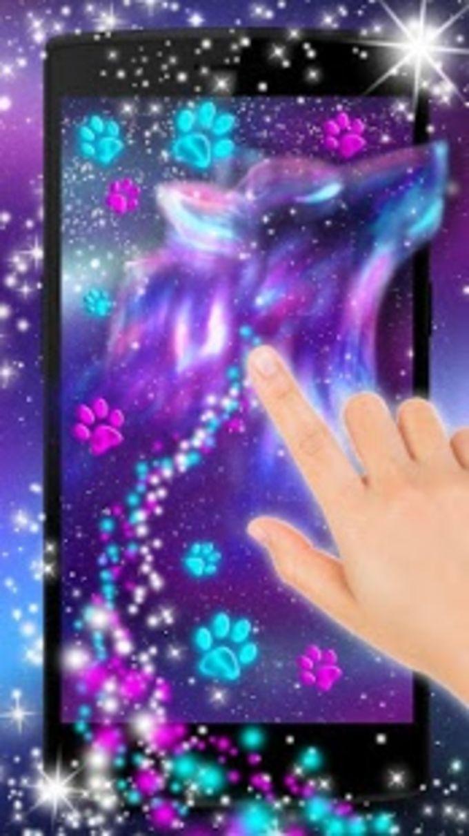 Night Sky Spirit Wolf Live Wallpaper