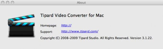 Tipard Video Converter for Mac