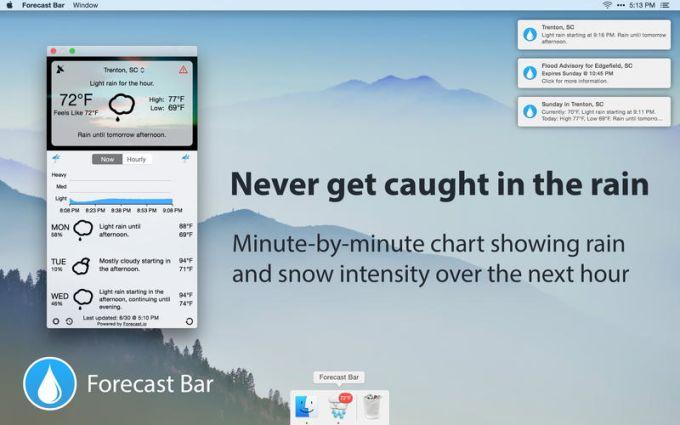 Forecast Bar - Weather, Radar and Alerts