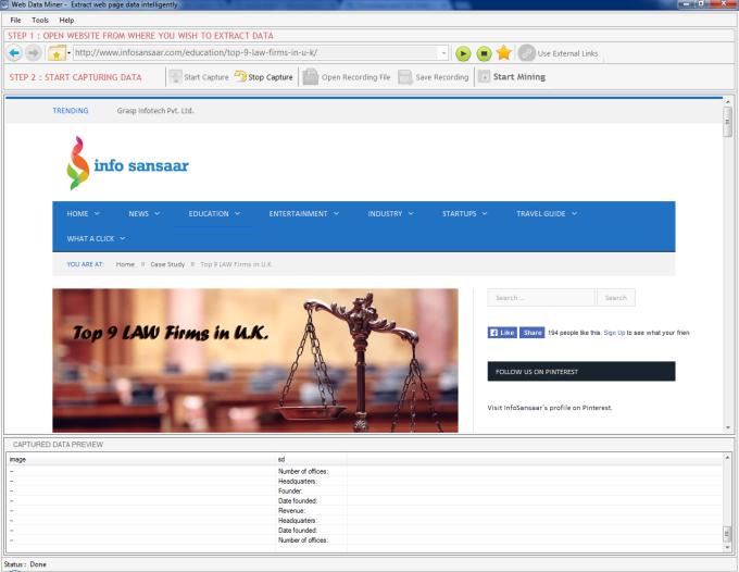Web Data Miner