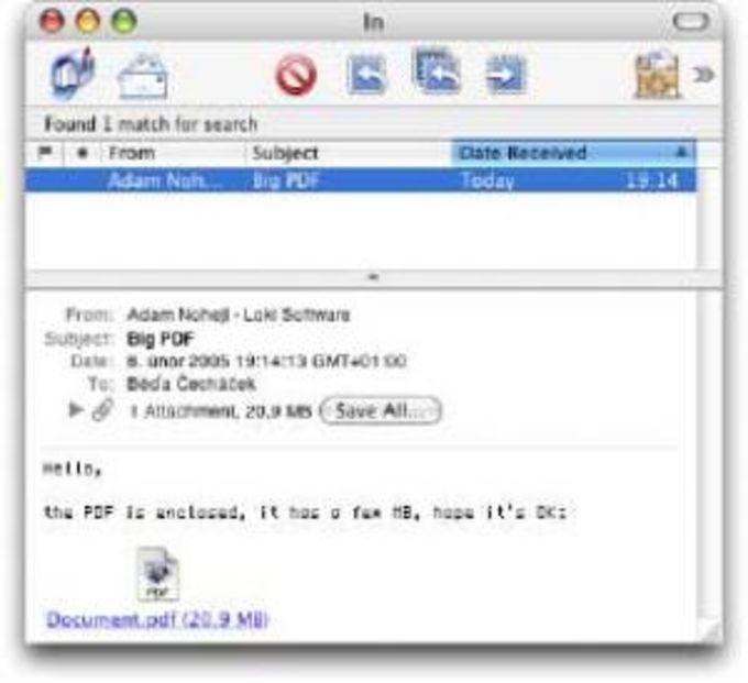 Mail Attachments Iconizer
