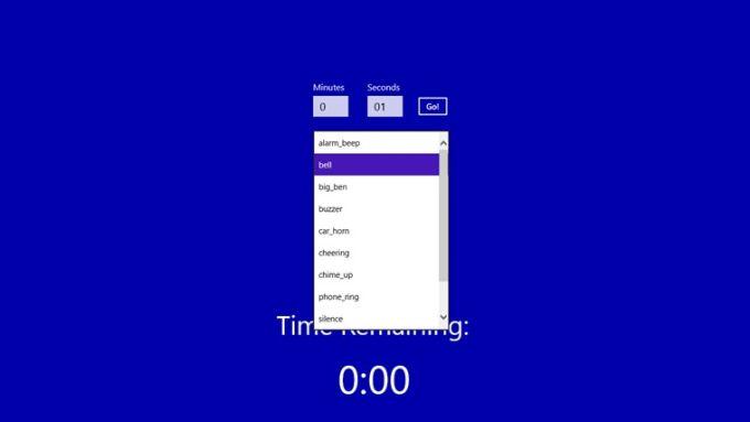 Countdown Alarm für Windows 10