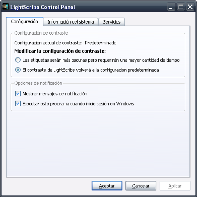 Lightscribe System Software