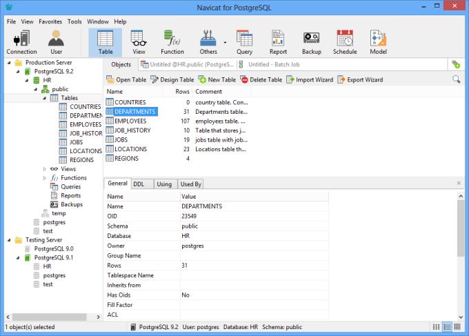 Navicat (PostgreSQL GUI)