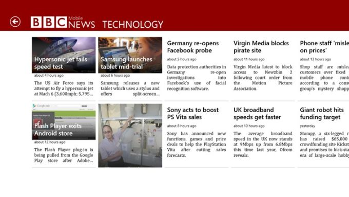BBC News Mobile for Windows 10