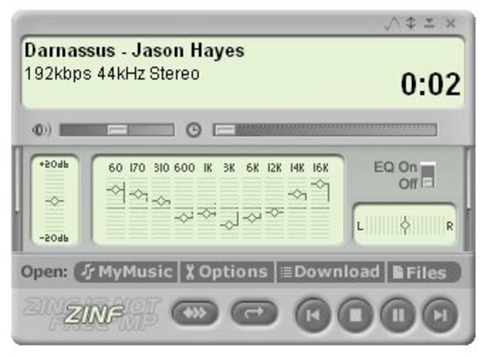 Zinf Audio Player