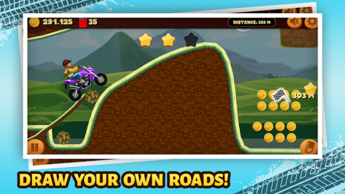 Road Draw Hill Climb Moto Racing