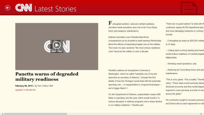 CNN App for Windows 10