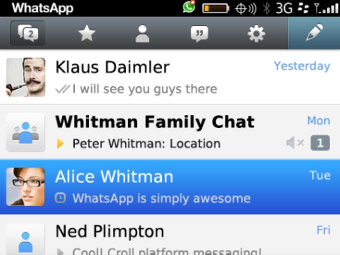 whatsapp for blackberry z10 free download