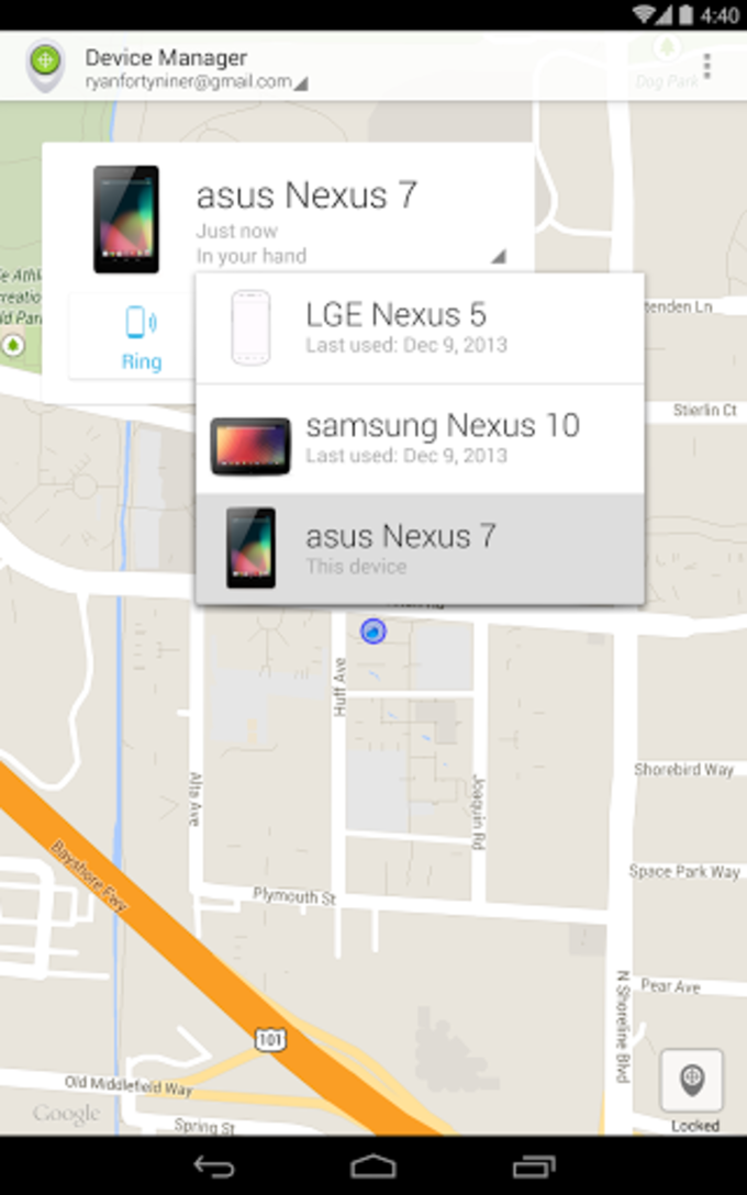 Télécharger android device manager