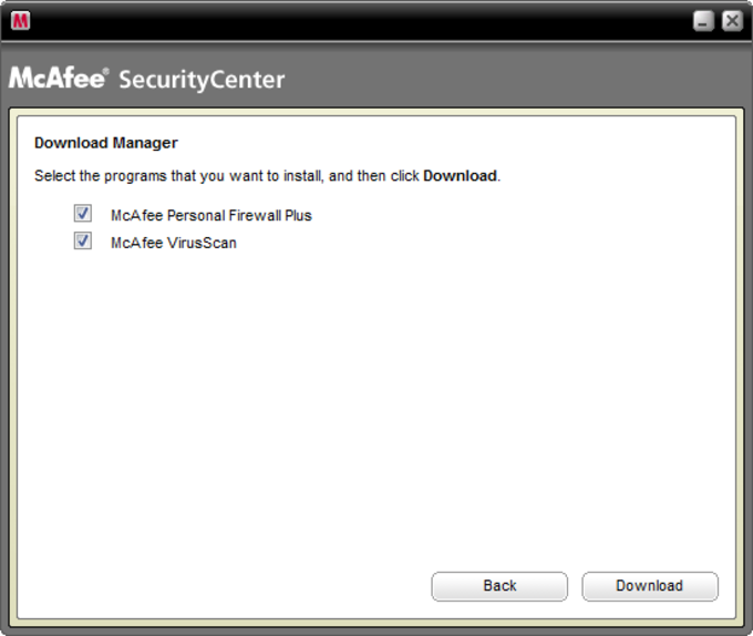 Install McAfee Internet Security Suite - Special edition from AOL