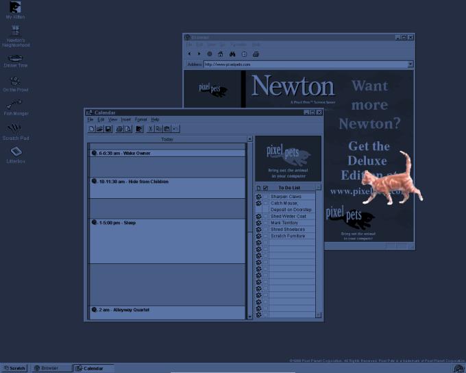 Pixel Pets Newton